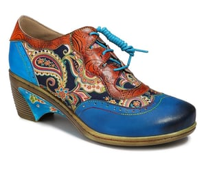 etsy, floral, and oxfordshoes image