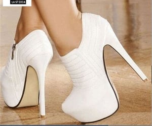 fashion shoes, white shoes, and women shoes image