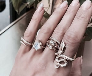 jewelry, rings, and nails image