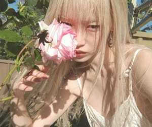 asian, flower, and girl image