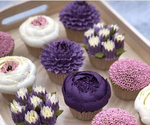 cup cake, soft, and purple image