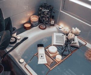 candle, bath, and relax image
