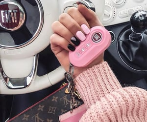pink, fiat, and nails image