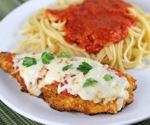 food, yummy, and spaghetti image