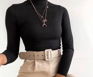 beige, belt, and black image