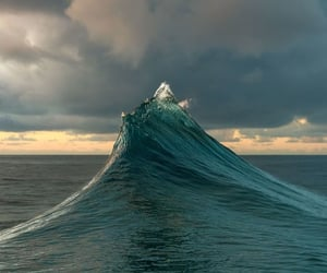 waves, water, and clouds image