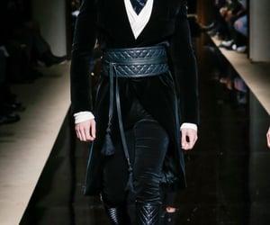 fashion, leather, and velvet image