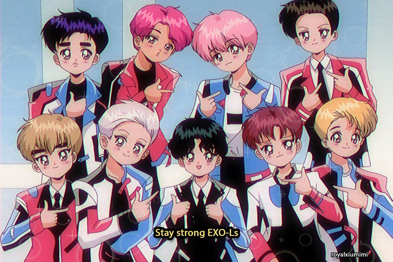 90s Anime Exo C Royalxiumimi On We Heart It