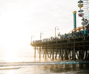 amusement park, beach, and california image