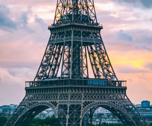 architecture, clouds, and eiffel tower image