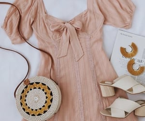 dress, fashion, and sandals image