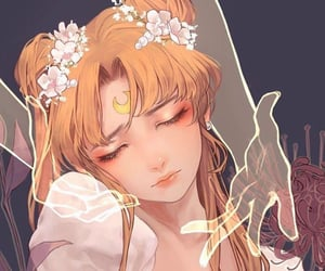 sailor moon and moon selene image