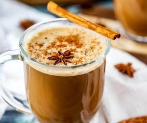 fall, tea, and dirty chai latte image