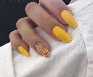 nails, yellow, and banana image