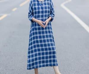 etsy, maxi dress, and plaid dress image