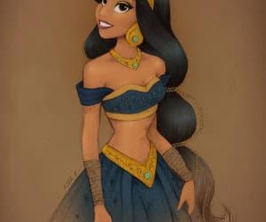 art, jasmine, and princess image