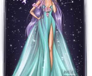 virgo, zodiac, and art image