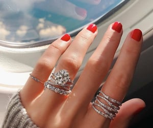 nails, rings, and jewellery image