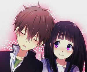 hyouka, blush, and cute image