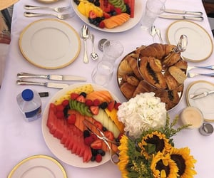 fruit, breakfast, and croissant image