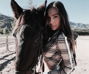 horse, alexis ren, and animal image