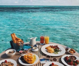 food, breakfast, and Maldives image
