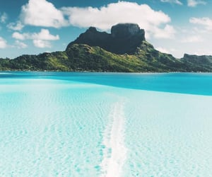 travel, beach, and bora bora image