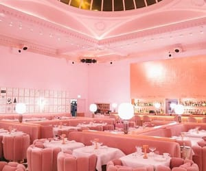 pink, restaurant, and london image