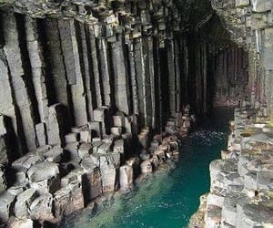 scotland, cave, and water image