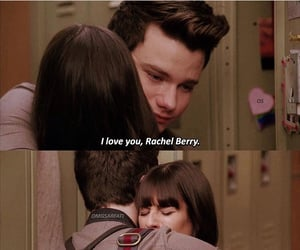 glee, hug, and lea michele image