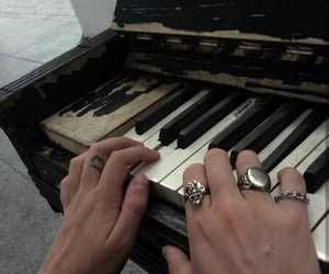 aesthetic, hands, and piano image