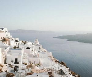 travel, Greece, and white image