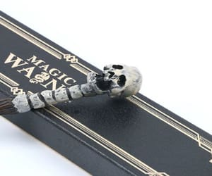 harry potter, wand, and death eater image