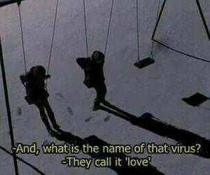 love, quotes, and virus image