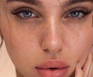 beautiful, eyebrows, and makeup image