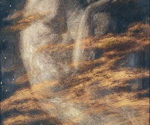 edward robert hughes, art, and moon image