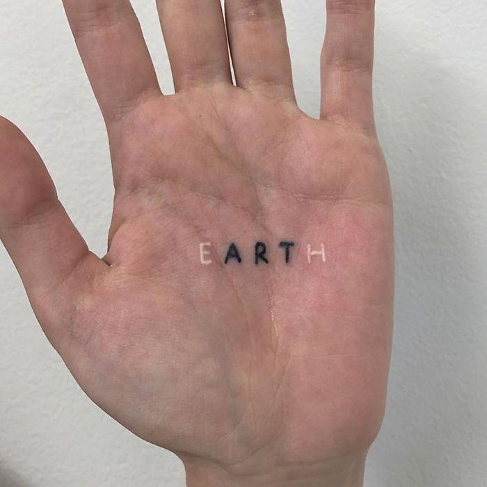 tattoo, art, and earth image