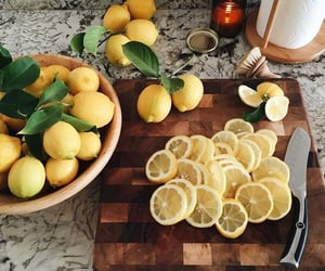 lemon, food, and fruit image
