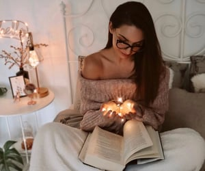 book, bookworm, and girl image