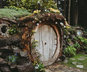 house, hobbit, and nature image