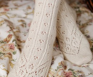 socks, vintage, and white image