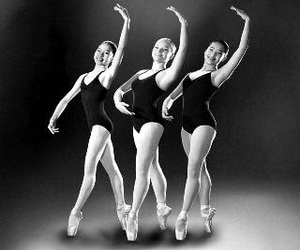 ballerinas, ballet, and black and white image