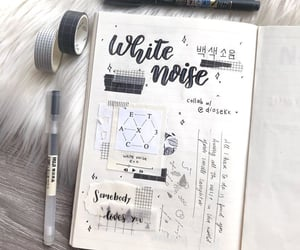 black, writing, and bujo image