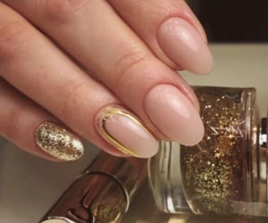 gel, gold, and nail art image