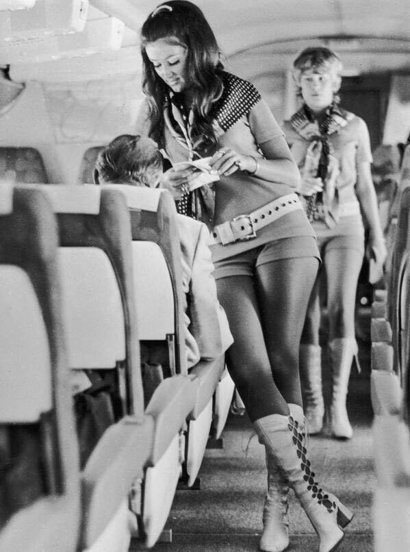1970s, 70s, and air hostess image
