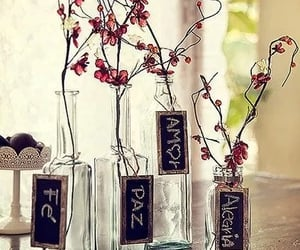 decor, tag, and flor image