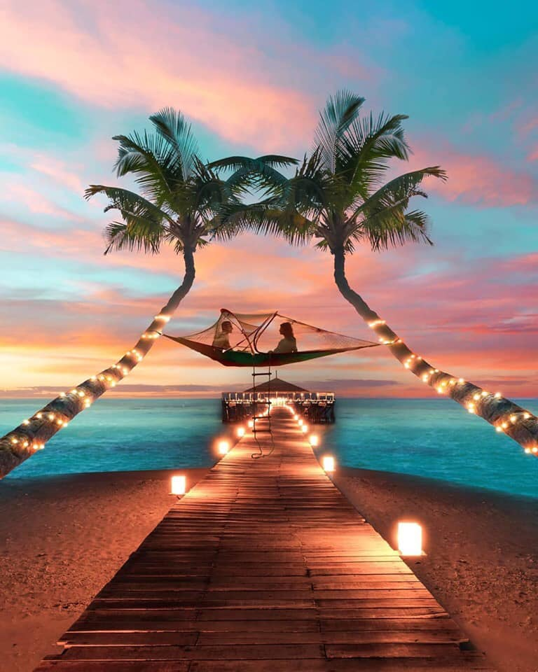 couple, travel, and beach image