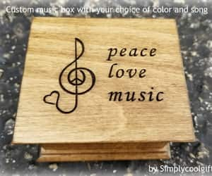 etsy, teacher gift, and wooden music box image
