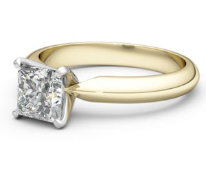 etsy, solitaire engagement, and gold ring image