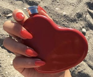 nails, red, and flask image